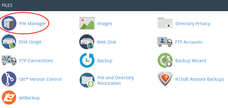 cpanel file manager open