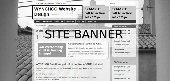 example site banner