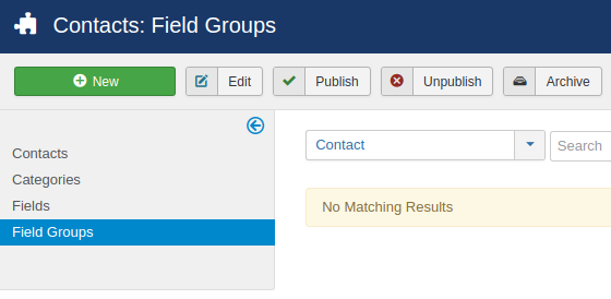 field groups contacts 1