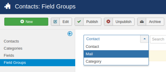 field groups contacts 2